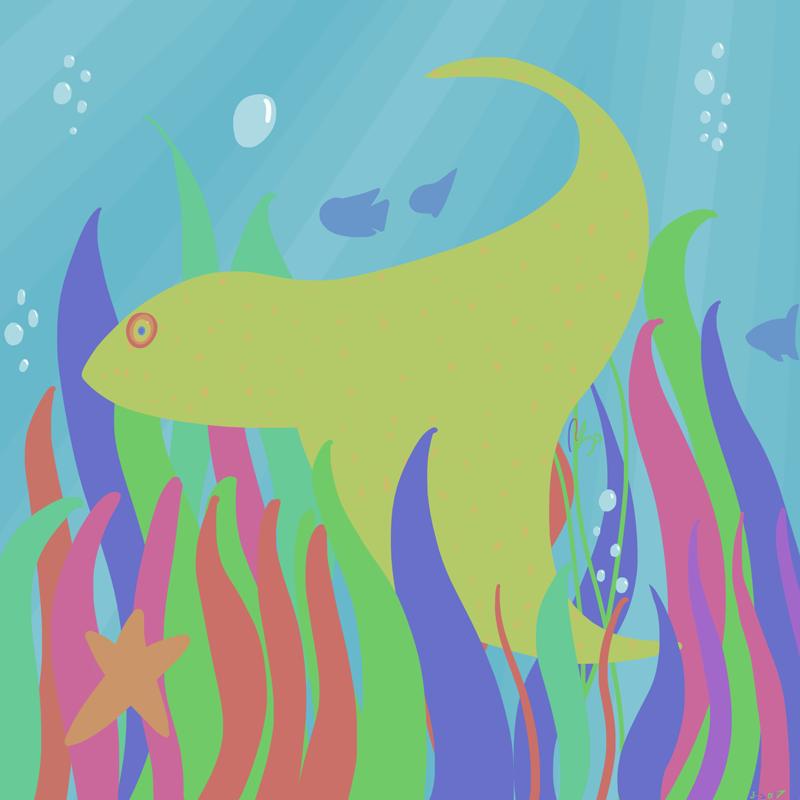 Hey Big Fish Under the Ocean
