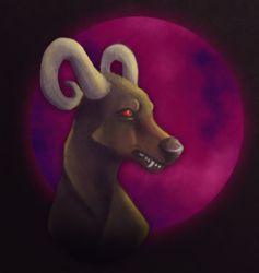 One Houndoom Moon