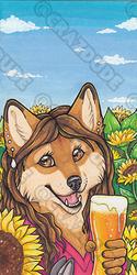 Mama_Coyote18 Marker Badge Bookmark