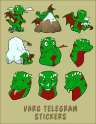 [COM] Varg Telegram Stickers