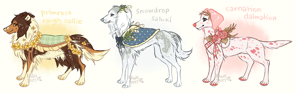 Flower dogs [CLOSED]