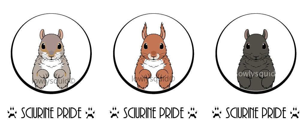 Sciurine Pride Badges
