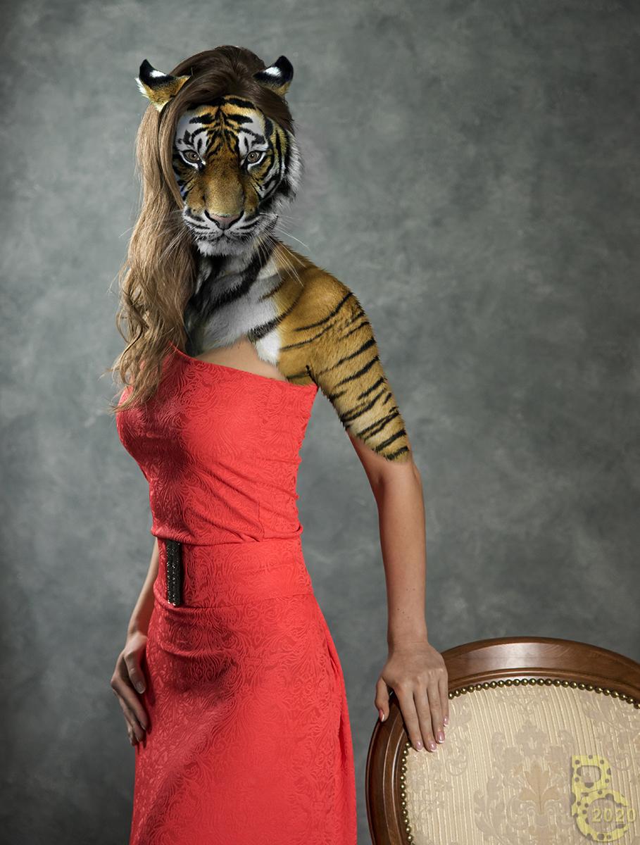 Tigress in a Red Dress