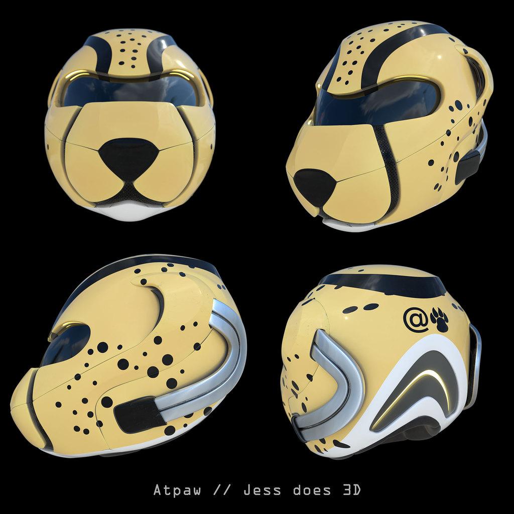 Atpaw Cheetah Helmet Concept
