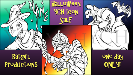 ONE DAY ONLY Halloween YCH Icon Sale 2017