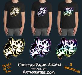Cheetah Rawr Shirts Now Available!