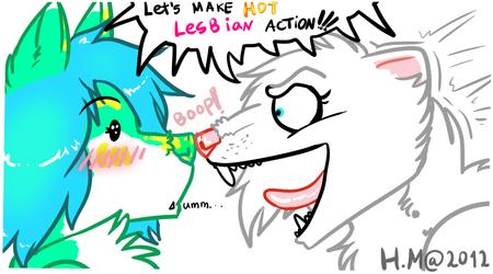Hot Lesbian Action!