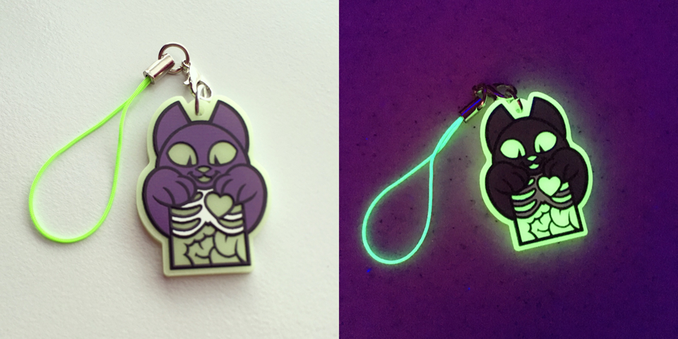 GLOWING X-RAY CHARMS ON SALE