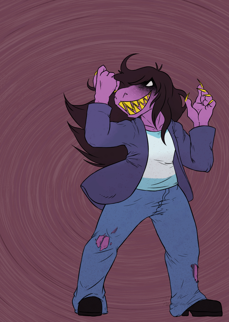Deltarune -Normal World Susie-