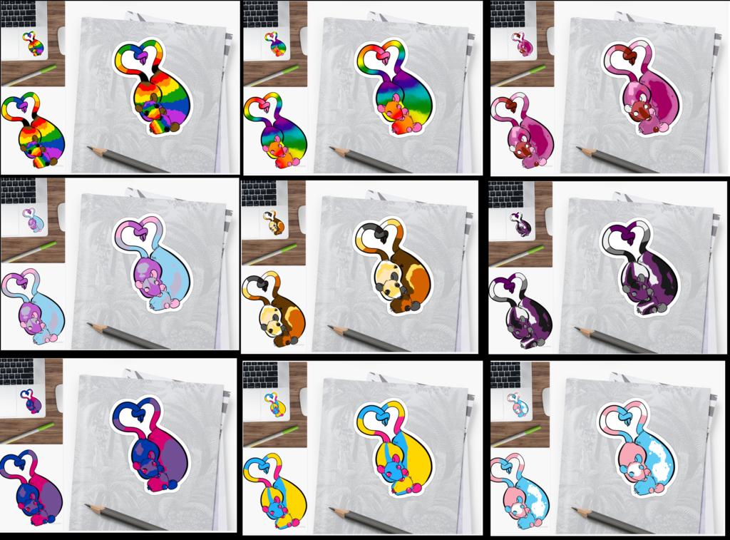Ratties in Love - Pride Stickers