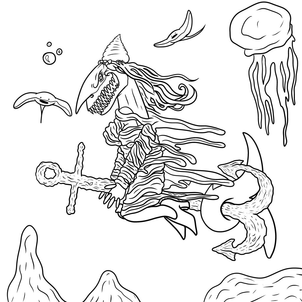 Inktober Day 1, Harper the Witch
