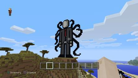 slender man pixel in minecraft