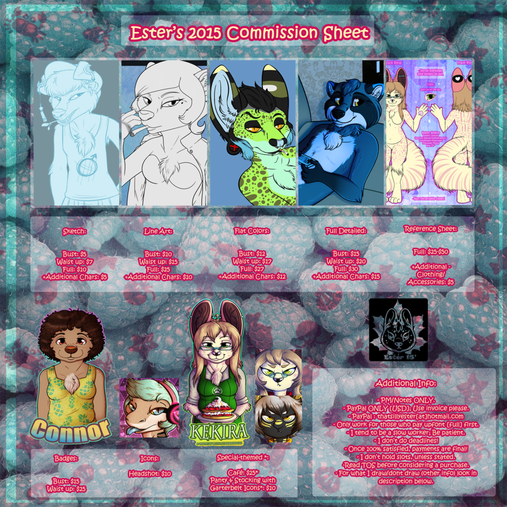 2015 Commission Price Sheet -TOS-