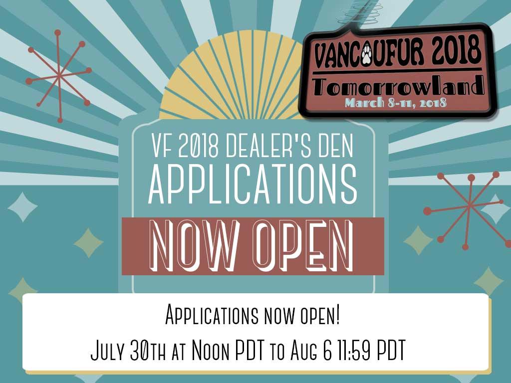 Most recent image: Vancoufur 2018 Dealer's Den Applications are NOW OPEN!
