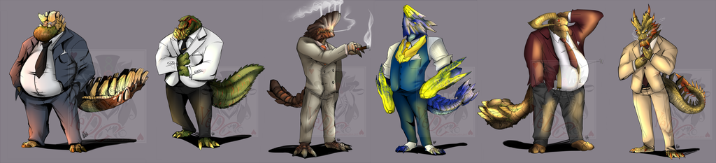 Brute Wyverns in suits