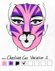 Cheshire Cat Variation 2 makeup sketch