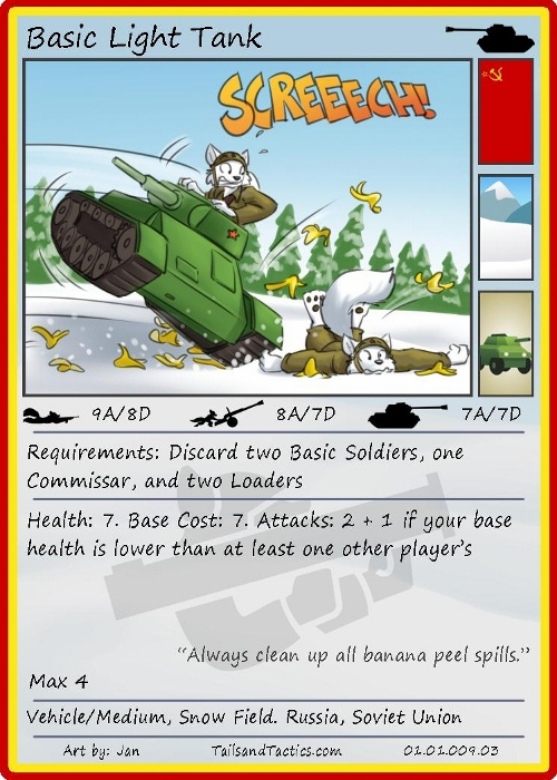 Tails and Tactics: Preview of: Basic Light Tank