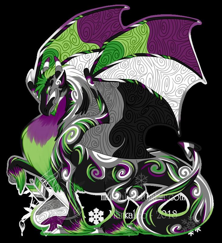 Aro ace pride dragon