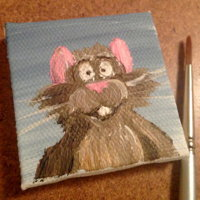 Rat Mini Painting