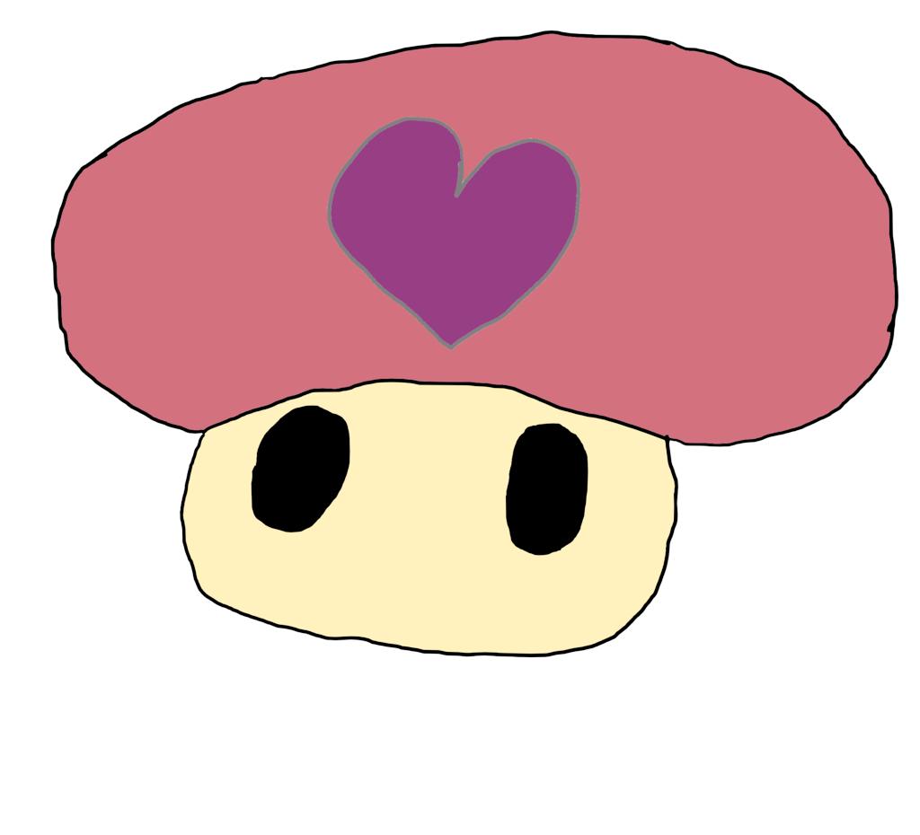 heart super mario mushroom