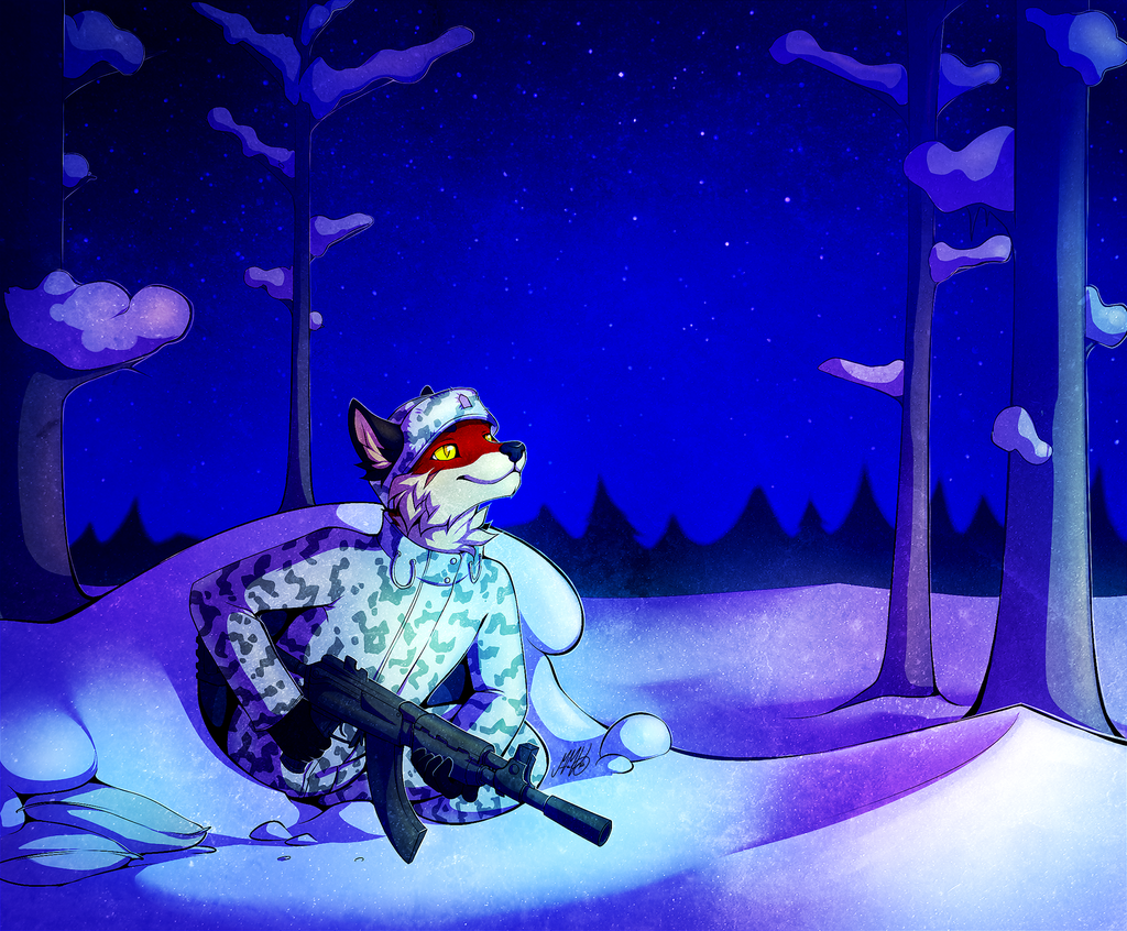 Military Artwork #2 -  Winter Foxhole