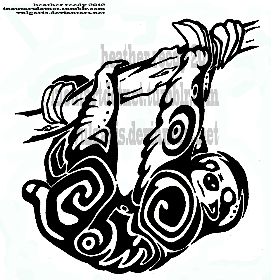 Sloth Tattoo Weasyl