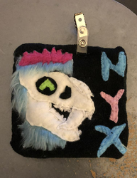 Nyx Fabric Furry Badge Commission