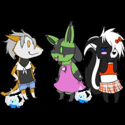 Chibi trio