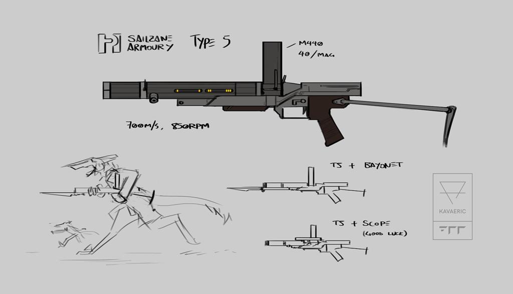 Vilousian arms: SA Type 5