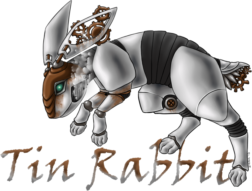 Tin Rabbit logo design