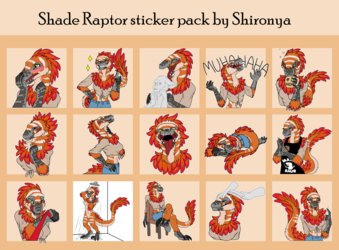 Shade Raptor Telegram sticker pack