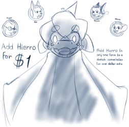 Sketch Commissions: Add Hierro for $1