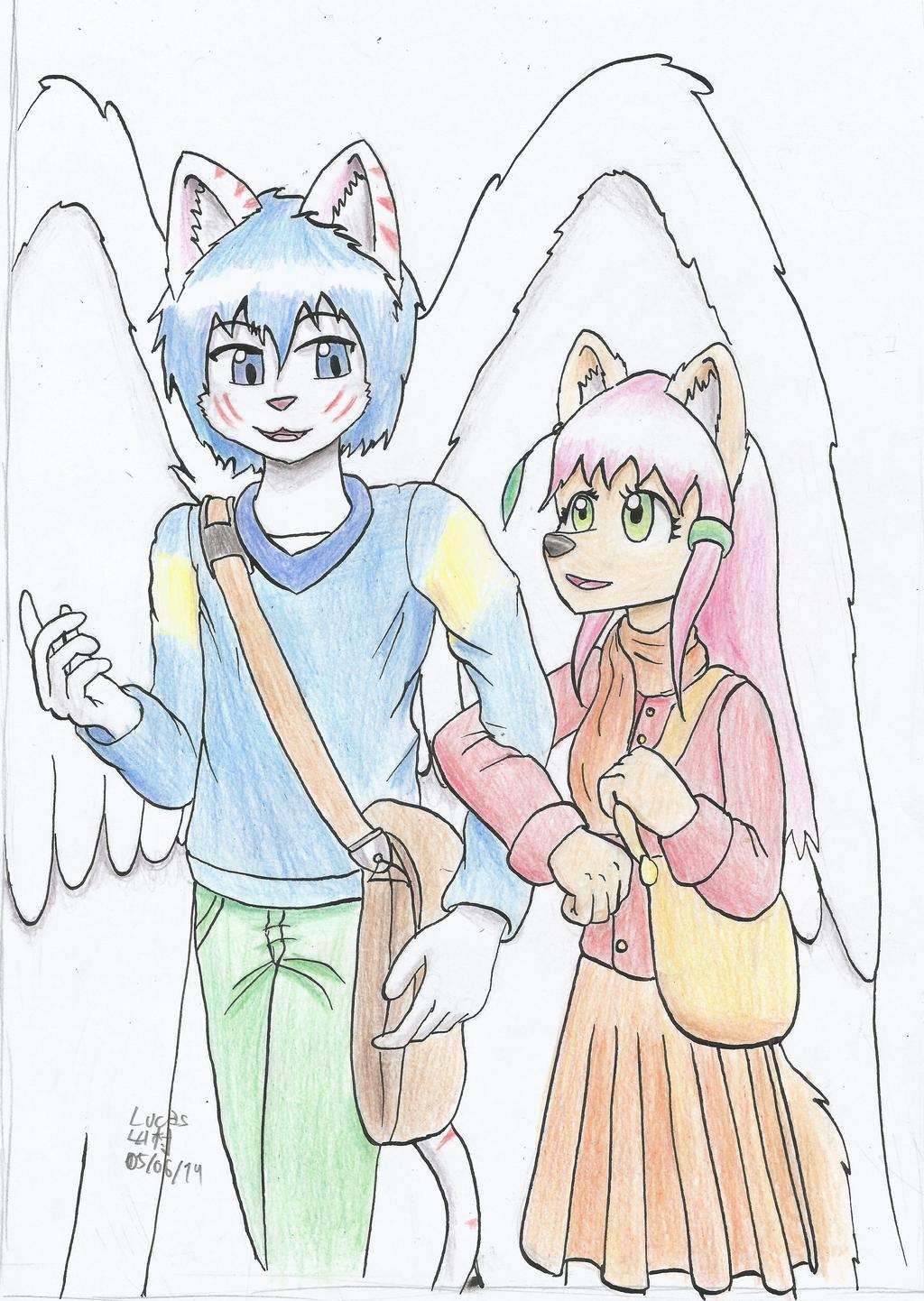 05/06 Drawing: Natascha and Zephyr