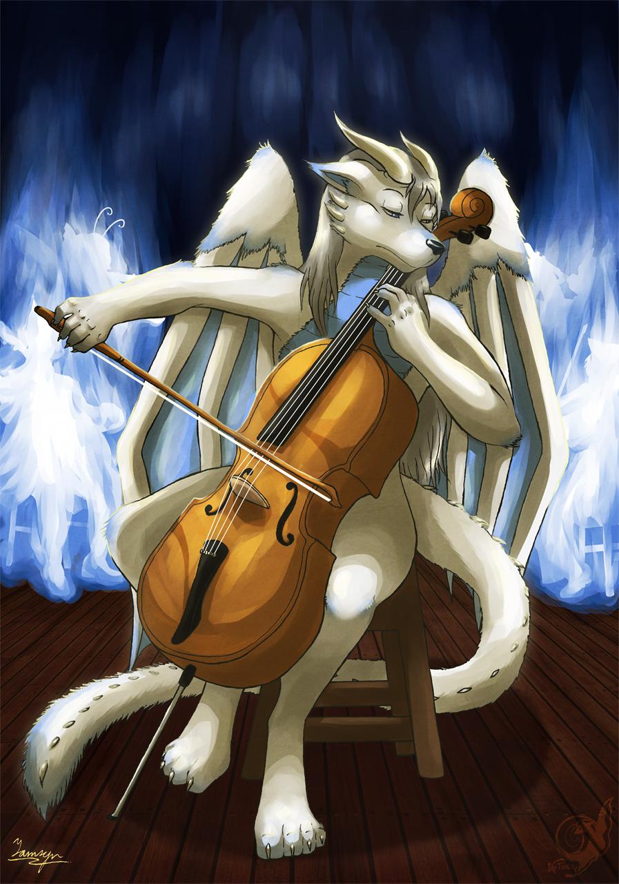 Simon Playing the Cello
