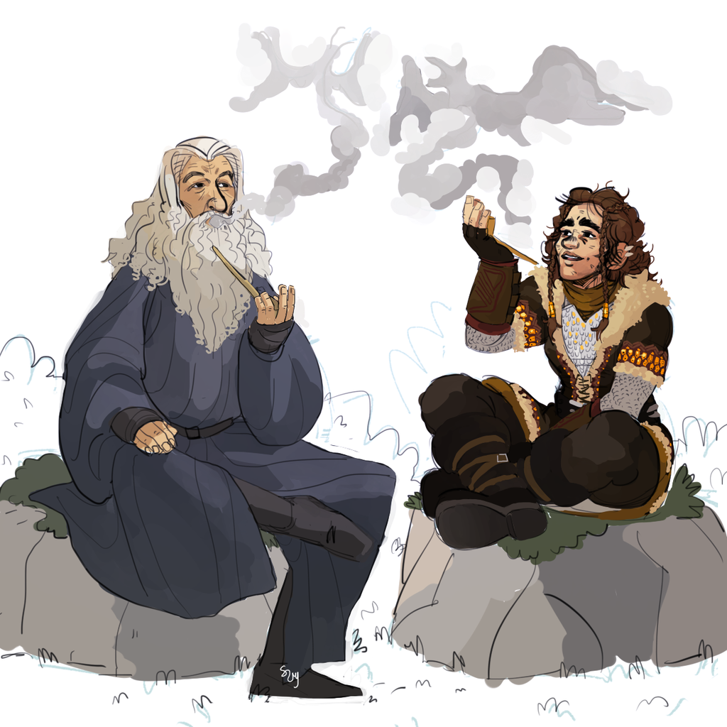 Auex Meets Gandalf - commission by blahzilla
