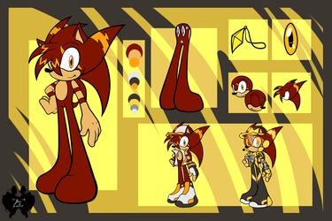 Commission: Stryke the Hedgehog Ref Sheet