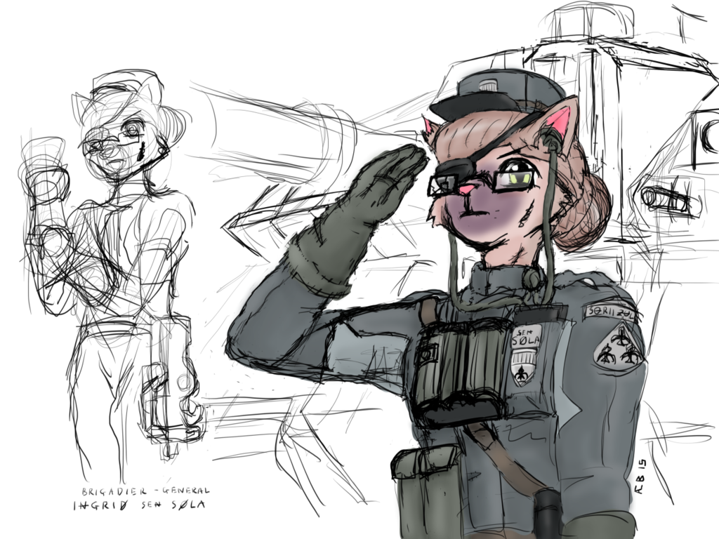 Tank Commander Sketches