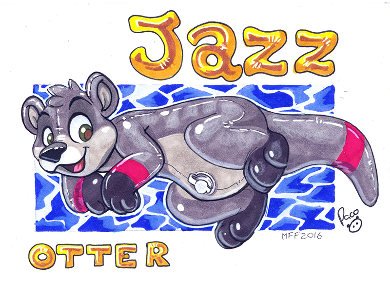 MFF badge: Jazz Otter
