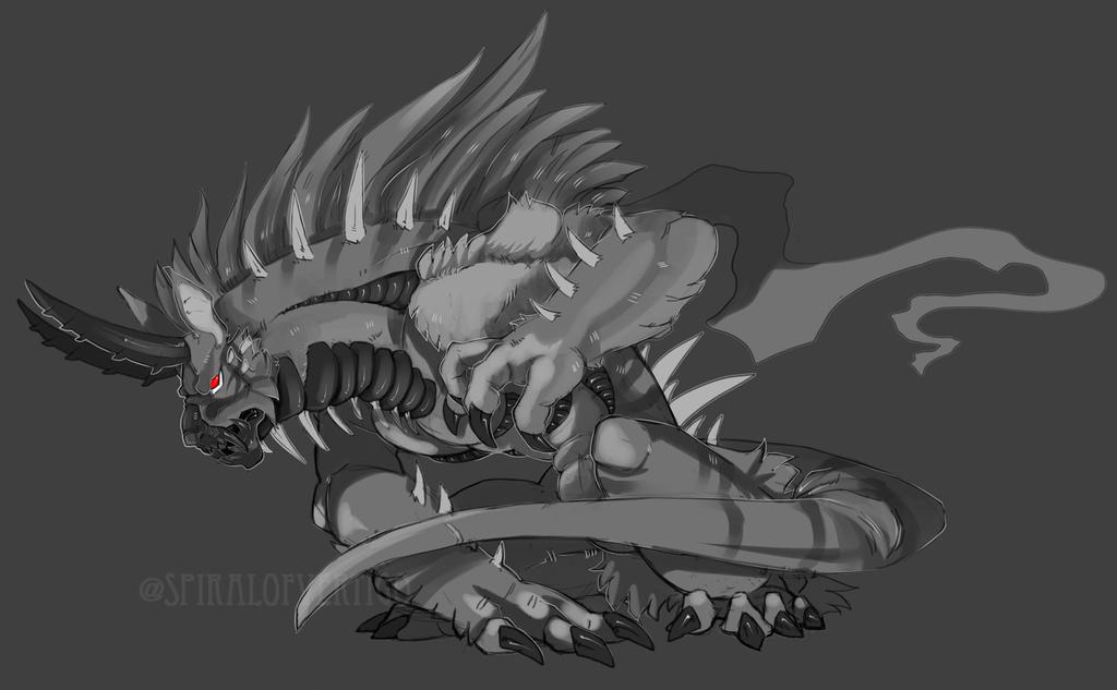 Hybrid-Dragoness Commission