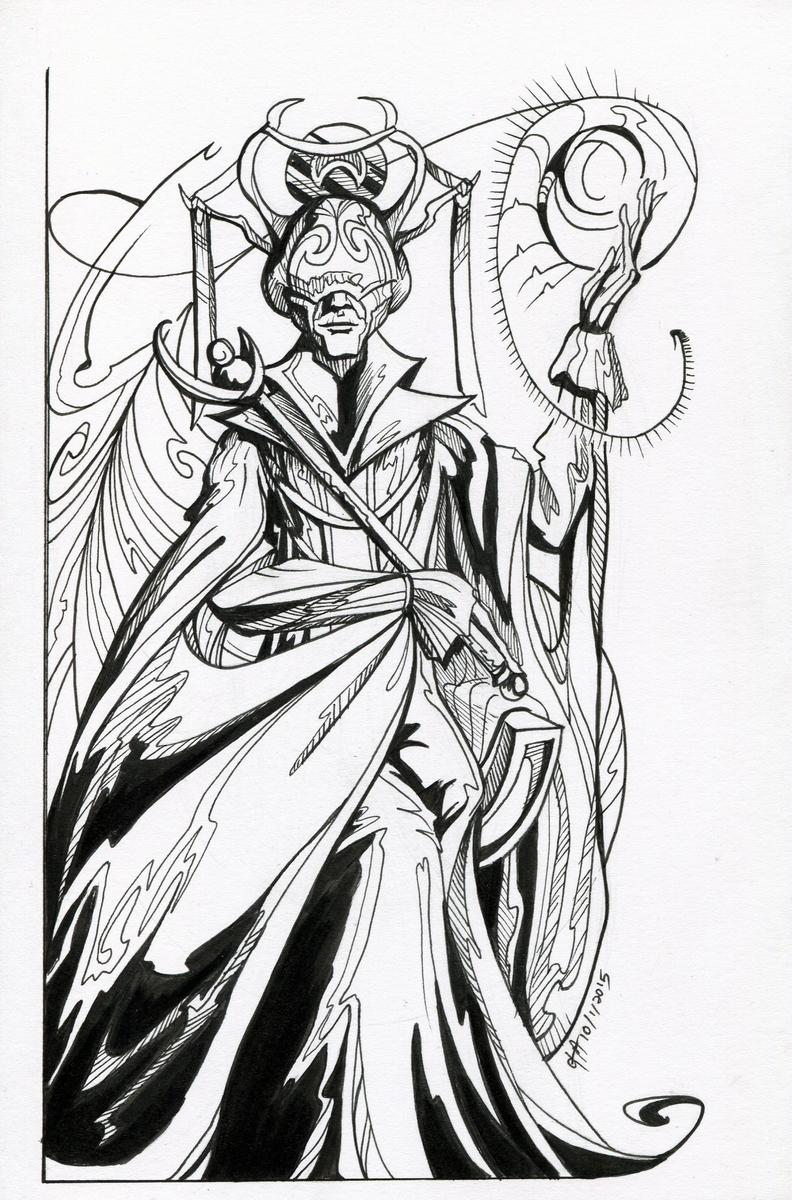 Inktober #1: Maester Melourious