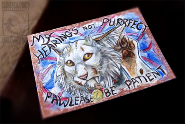 Not Purrfect Con Badge