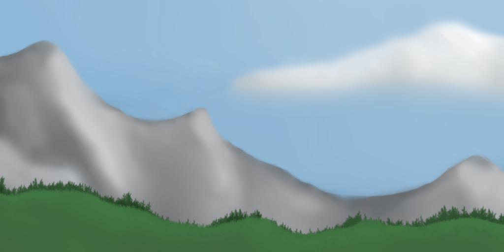 Most recent image: [Digital] Happy Little Mountains