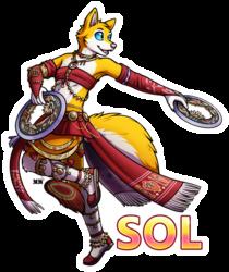 Sol Dancer Fully Body Badge