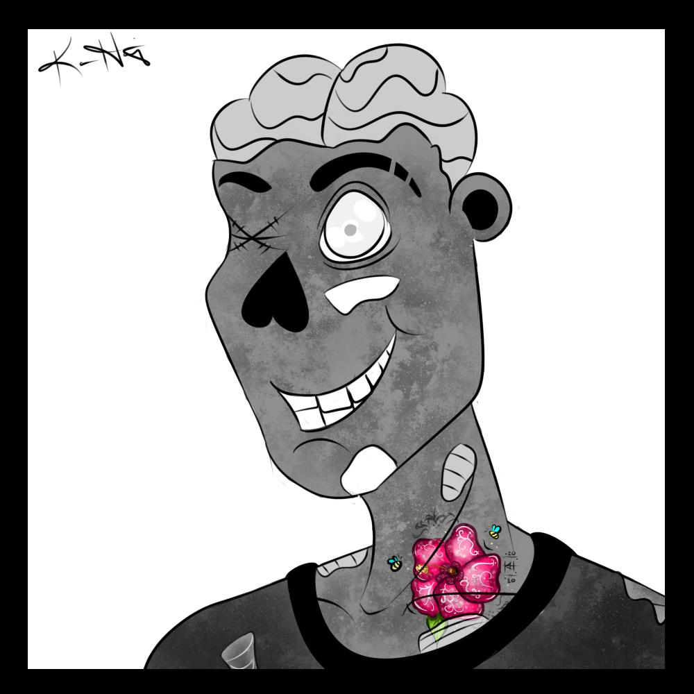Drawlloween '20 - #6 Zombie