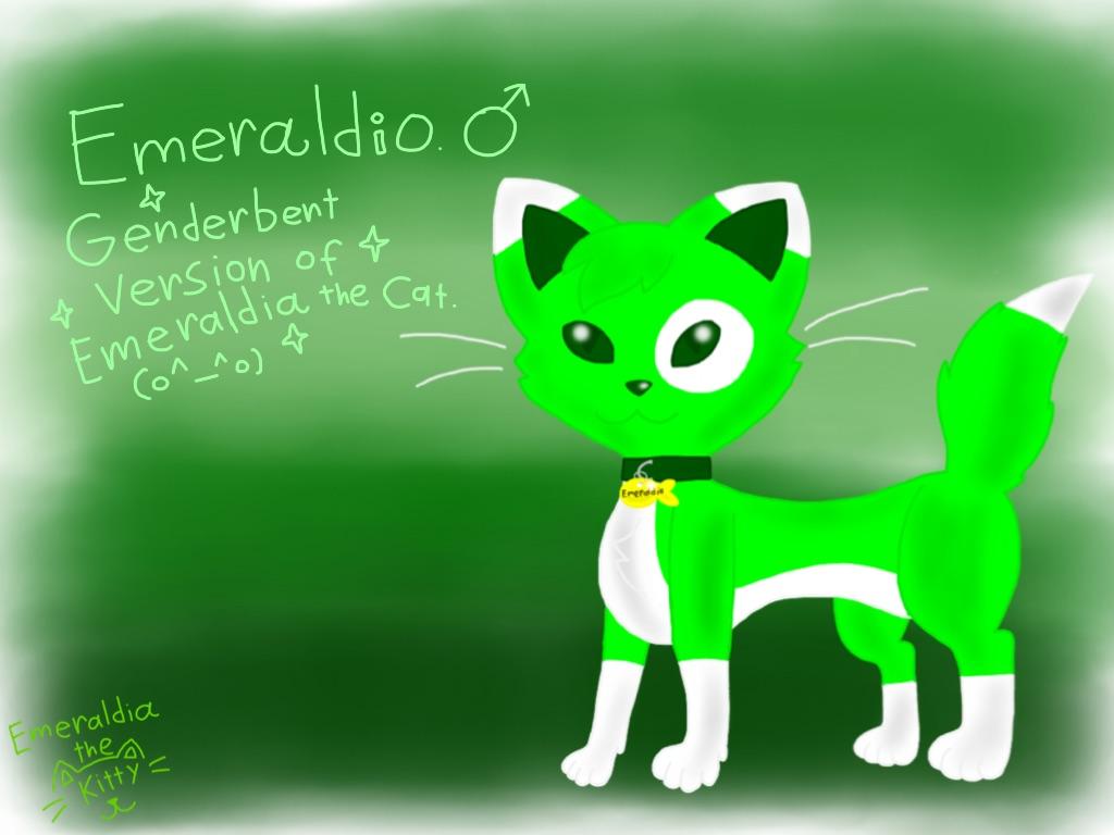 Genderbented Emeraldia (Redraw Again)