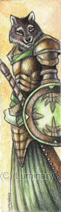 Wolf Warrior Bookmark - 2011