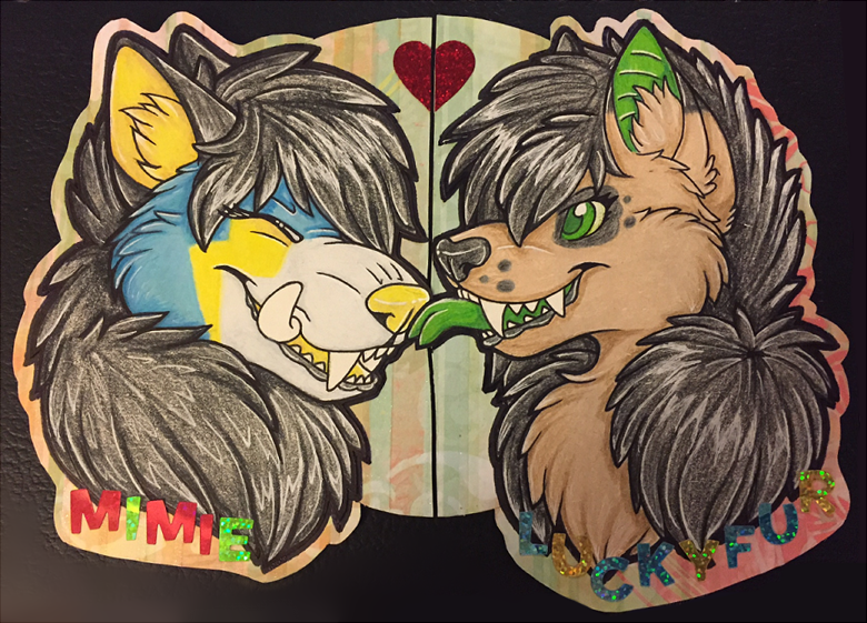 Most recent image: Couples Badge - Mimie x LuckyFur