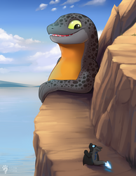 [C] Salamander by the mountain