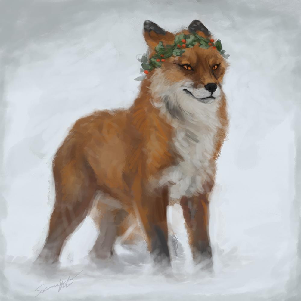 Christmas Fox speedpaint