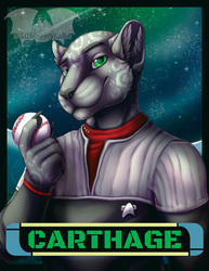 VancouFur 2017 Badge - Carthage
